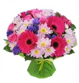 Karışık mevsim buketi mevsimsel buket  İstanbul Ümraniye çiçek satışı