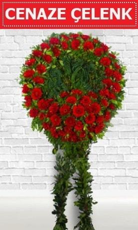 Kırmızı Çelenk Cenaze çiçeği  İstanbul Ümraniye İnternetten çiçek siparişi