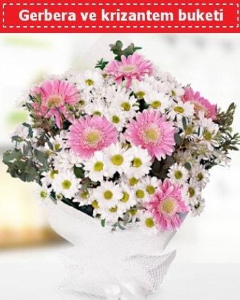 Papatya ve Gerbera Buketi  İstanbul Ümraniye çiçek , çiçekçi , çiçekçilik