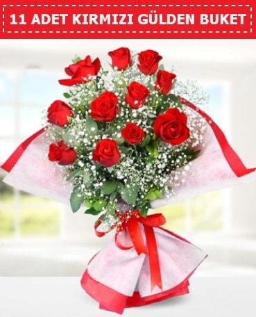 11 Adet Kırmızı Gül Buketi  İstanbul Ümraniye internetten çiçek siparişi