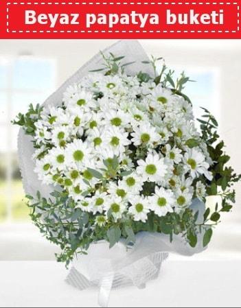 Beyaz Papatya Buketi  İstanbul Ümraniye 14 şubat sevgililer günü çiçek
