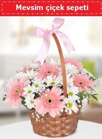 Mevsim kır çiçek sepeti  İstanbul Ümraniye çiçek , çiçekçi , çiçekçilik