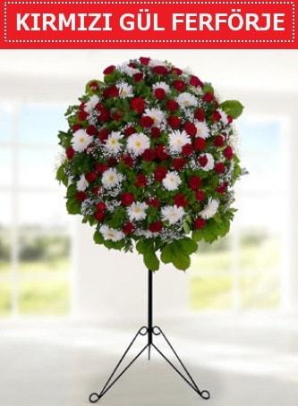 Kırmızı gül ferförje 40 adet gül ve gerbera  İstanbul Ümraniye çiçek yolla