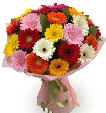 Karışık büyük boy gerbera çiçek buketi  İstanbul Ümraniye çiçek satışı
