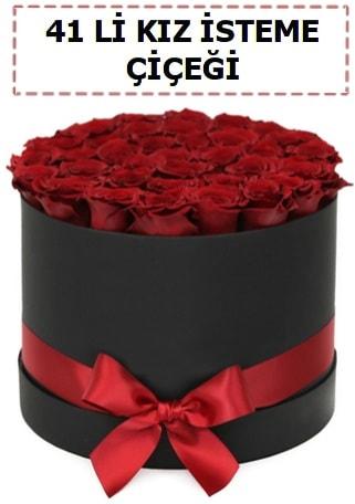41 li kız isteme kutuda çiçek  İstanbul Ümraniye ucuz çiçek gönder