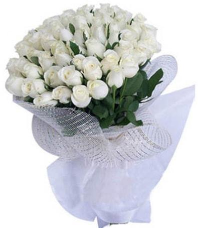 41 adet beyaz gülden kız isteme buketi  İstanbul Ümraniye çiçek siparişi sitesi