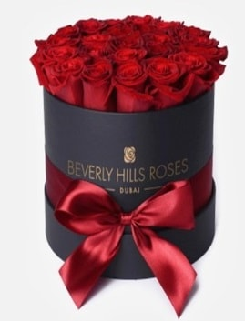 Siyah kutuda 25 adet kırmızı gül tanzimi  İstanbul Ümraniye İnternetten çiçek siparişi