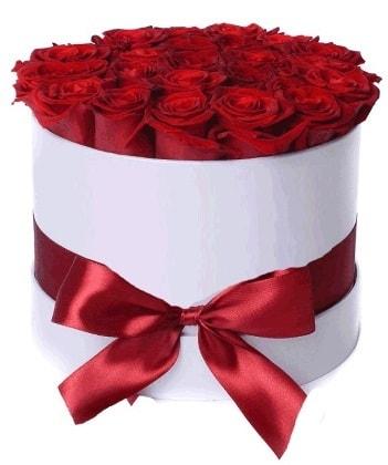 33 adet kırmızı gül özel kutuda kız isteme   İstanbul Ümraniye çiçekçiler