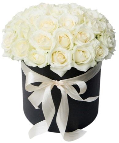 41 adet beyaz gül kutuda söz  İstanbul Ümraniye çiçek satışı  süper görüntü