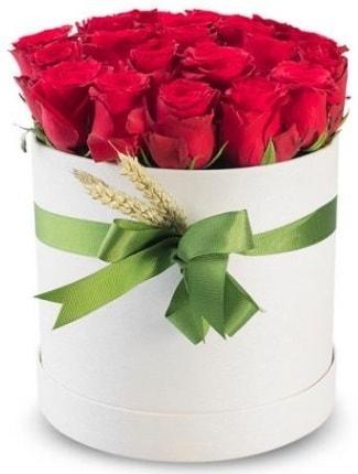 25 adet özel kutuda kırmızı gül  İstanbul Ümraniye cicekciler , cicek siparisi  söz çiçekler