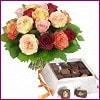İstanbul Ümraniye internetten çiçek siparişi  Renkli Güller ve çikolata